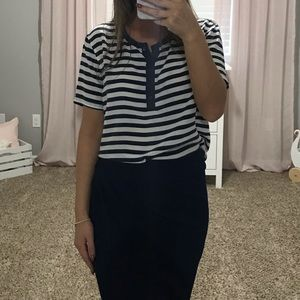 Stripped Blue Blouse from Nordstrom .